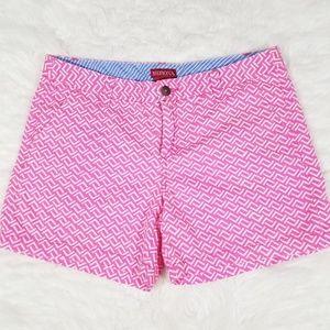"""Merona pink pattern 5"""" rise shorts.  Size 10"""